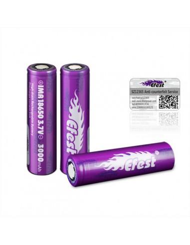 Accu Efest Purple 18650 Flat Top 3000mAh 35A
