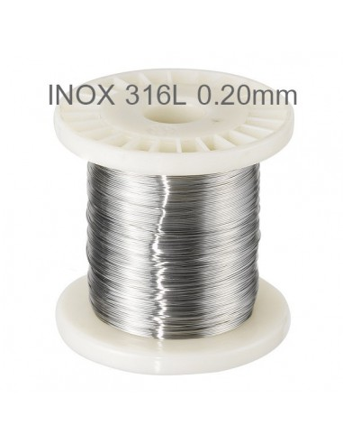 Fil résistif Inox 316L  Ø 0,20 mm (10m.)